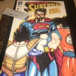 Saiyan vs Supes by AzizSupremeArt