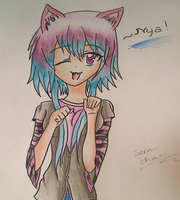 Nya~! [COntest for Ginchi-chan/YoungAnimeArtClub] by Seraphim-Chan