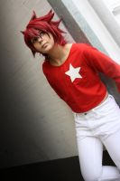Takuto looking in the light by ShadowFox-Cosplay