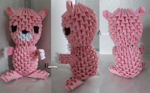 3D Origami - Gloomy Bear by Jobe3DO