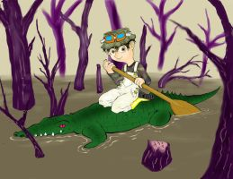 Gator Boat by FLAMINGPINECONE