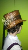 Leather top hat 2 by IXEL-Manufacture