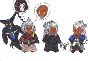 Xehanort,Xemnas and Ansem by ParitSentiment