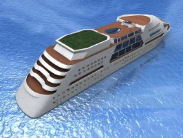 Custom Cruise Ship by todd587