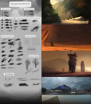 My painting brushes (Concept art, speedpainting) by SoldatNordsken