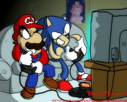 Mario vs. Sonic by BrokenTeapot