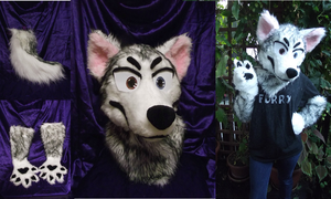 Husky Photo Collage - For sale! by foxfairy-art