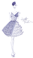 _ Dress Sketch_ by GinchyCouture