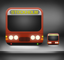 iPhone bus and train icon 'SL' by Arvid23