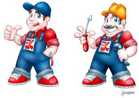 factory mascot proposals by antonist