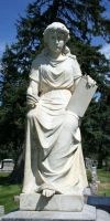 Mount Olivet Cemetery Woman 98 by Falln-Stock