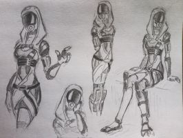 sketches Tali (5) by spaceMAXmarine