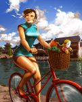 Chun Li and her funky red bike by TixieLix