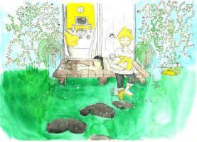 In the garden - colored by nay-only