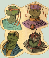 Tmnt heads 2 by LaLunatique