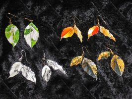 Leaf earrings 1 by Selenere