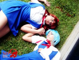 Rei y asuka cosplay by sakurita-cosplay