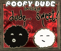 Poofy Dudes Brushes by awrighton