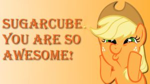 Wallpaper Applejack you are so awesome by Barrfind