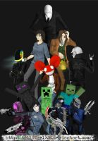 Awesome Characters Pile by hellfire1306
