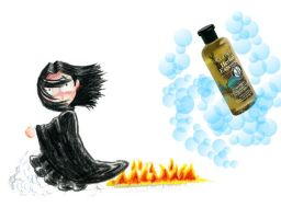 Snape confronted with shampoo by BelovedUnderwing