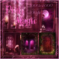 Pink Magic small pack backgrounds by moonchild-ljilja
