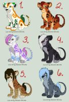 Mixed Breeds adoptables (Closed) by iheartart132
