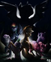 Applejack and Co and the Curse of vampire pony by GiMoody