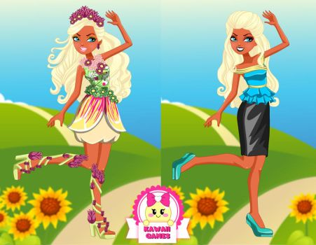 Ever After High Nina Thumbell Dress Up by heglys