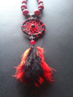 4 elements - Fire dreamcatcher necklace by Vision4LifeCro