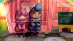 Reese and Cyrus Animal Crossing New Leaf by EarlyBirdWaker