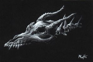 Dragon Skull by Makowh