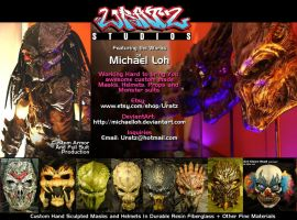 Uratz Custom Masks n Suits Ad by Uratz-Studios