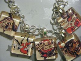 Sailor Jerry Bracelet by 1KraftyN3rdGrl