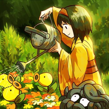 erika watering the bellsprout by aquanut