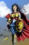 Wonder Woman in Armor by JasonMetcalf Coloured. by Highlander0423