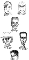 Bunch of Caricatures by Super-kip