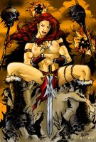 Red Warrior Color by hohenheim54