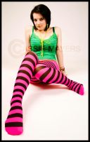 Carly Stripey Foot by Casslass