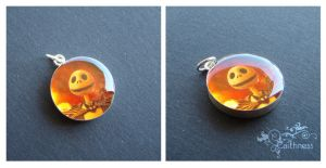 Xmas Jack-resin silver pendant by caithness-shop