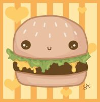 Happy Cheeseburger by QOTD