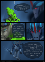 Crosshairs vs Starscream pg 2 by Arsevere
