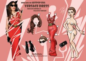 Lady Gaga Paper Doll: Versace Dinner by DibuMadHatter