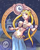Sailor Moon Bellydancer Colors by silentlily