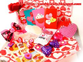 Valentines day goodies by zambicandy