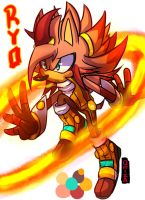 Ryo the hedgehog ( New Chara ) by Omiza