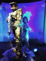 PAX - Master Chief and Cortana by Hyokenseisou-Cosplay