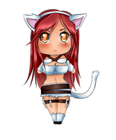 Chibi Kitty Katarina by xSilverDragoonx