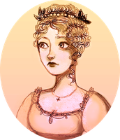 Victorine's first Ball Gown by quiteproustian