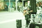 Busker on Bourke by chun11